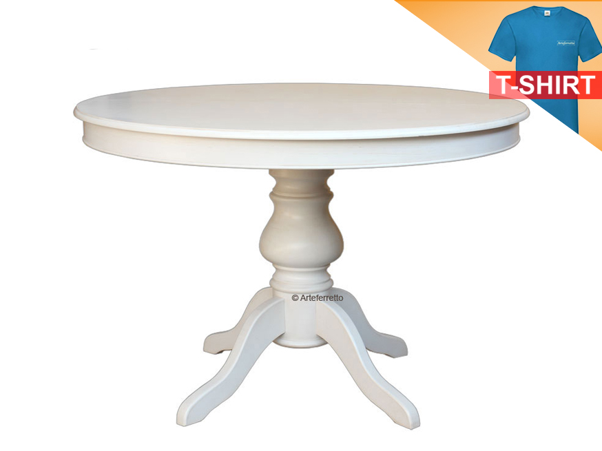 Table Extensible Ronde 110 Cm Finition Laquee Structure En