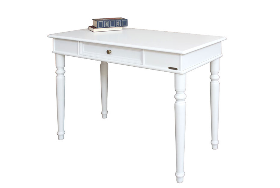 petit bureau avec tiroir finition blanc bureau secr taire ebay. Black Bedroom Furniture Sets. Home Design Ideas