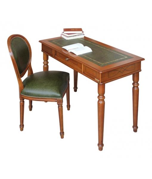 ensemble bureau et chaise v ritable cuir lamaisonplus. Black Bedroom Furniture Sets. Home Design Ideas