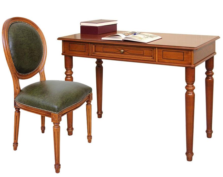 ensemble bureau et chaise en v ritable cuir lamaisonplus. Black Bedroom Furniture Sets. Home Design Ideas