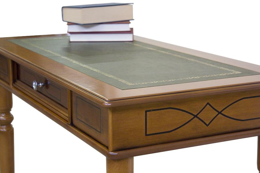bureau classique stucs et dessus en cuir lamaisonplus. Black Bedroom Furniture Sets. Home Design Ideas
