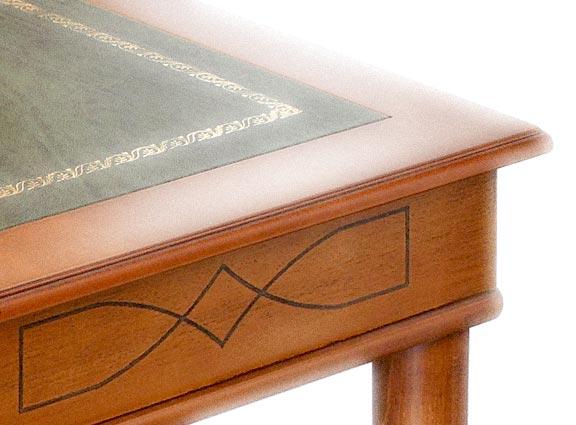 Ensemble bureau et chaise v ritable cuir lamaisonplus for Meuble avec cachette