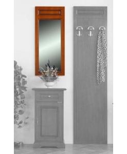 Petit miroir mural d'entrée en bois Arteferretto