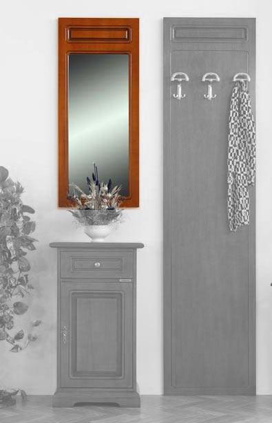 Petit miroir mural d 39 entr e en bois lamaisonplus for Petit miroir original