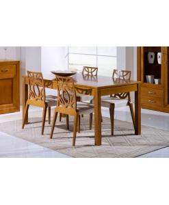 table rectangulaire à rallonge cm 140, table à manger, table en bois
