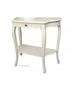 console en bois, lacquée blanc ou ivoire