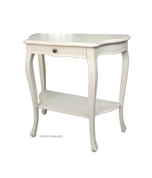 console en bois, lacquée blanc ou ivoire, Réf. 121-AV