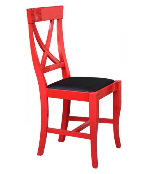 Chaise Laquee Rouge Vieilli Lamaisonplus
