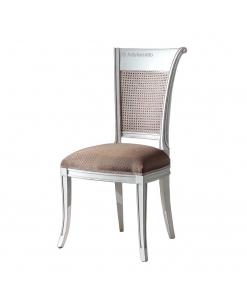 chaise paille de vienne, chaise en bois, chaise rembourré, chaise tissu