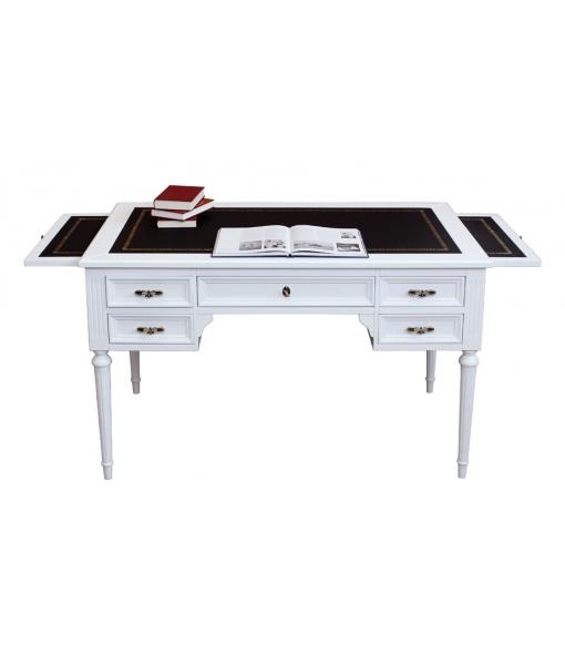 Bureau, bureau laqué, bureau noir et blanc