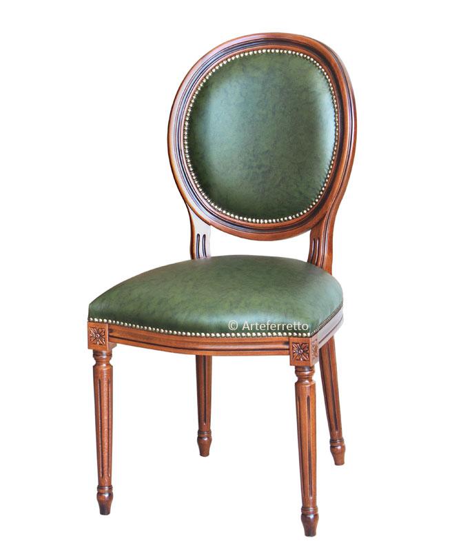 Chaise empire en cuir v ritable la maison plus - Chaise en cuir veritable ...