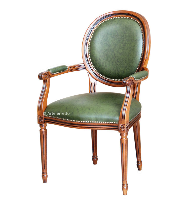 fauteuil classique en cuir v ritable lamaisonplus. Black Bedroom Furniture Sets. Home Design Ideas