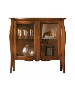 vitrine modelée, vitrine classique, vitrine de style, vitrine en bois, vitrine pour le salon