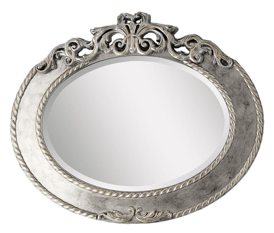 Miroir ovale en feuille d 39 or ou d 39 argent la maison plus for Miroir d argent