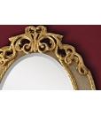 foglia oro su specchiera ovale laccata