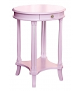 tavolino ovale, tavolino rosa
