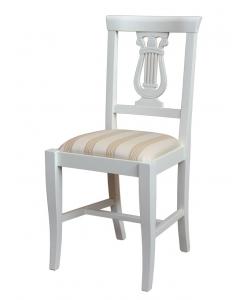 chaise lyre, chaise laquée, chaise en bois