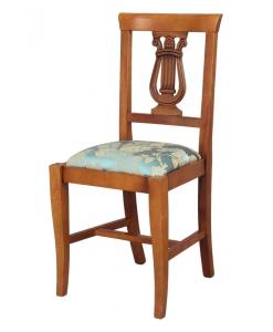 chaise lyre, chaise sculptée, chaise de style
