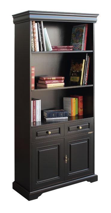 meuble biblioth que fonctionnel avec tag res finition noir style classique ebay. Black Bedroom Furniture Sets. Home Design Ideas