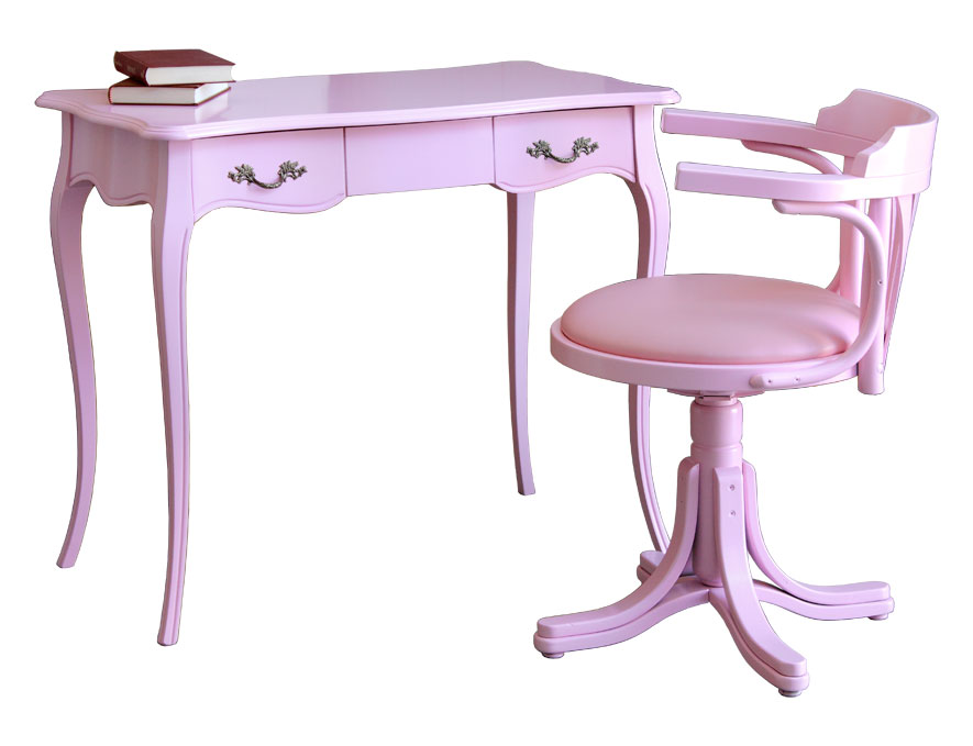 bureau et chaise tournante pink lamaisonplus. Black Bedroom Furniture Sets. Home Design Ideas