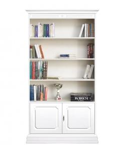 Bibliothèque 2 portes 3 étagères réglables réf. 201-AV