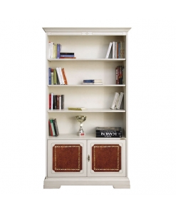 cuir véritable, bibliothèque de bureau