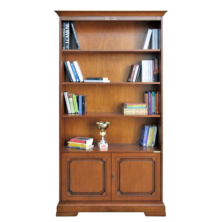 biblioth que classique 2 portes et tag res lamaisonplus. Black Bedroom Furniture Sets. Home Design Ideas