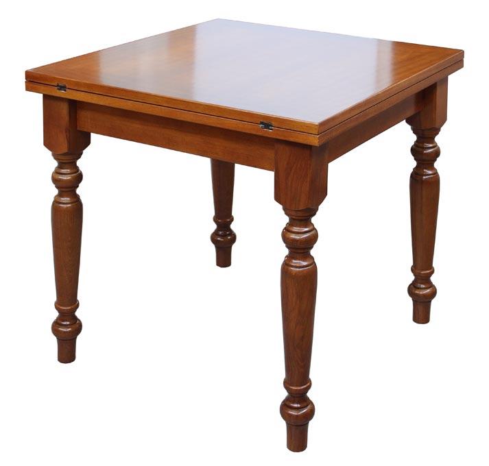 table carr e extensible 80 160 cm lamaisonplus. Black Bedroom Furniture Sets. Home Design Ideas