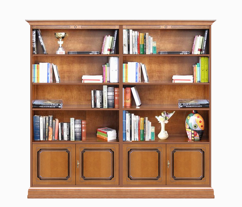 biblioth que murale 4 portes meubles modulaires tag res bureau s jour ebay. Black Bedroom Furniture Sets. Home Design Ideas