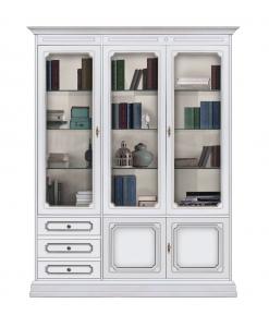 bibliothèque vitrine murale, bibliothèque avec portes et tiroirs