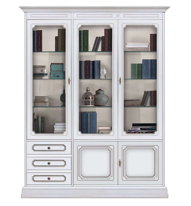 biblioth que vitrine murale de style mobilier classique. Black Bedroom Furniture Sets. Home Design Ideas