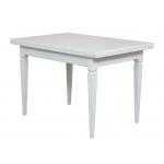 Table avec allonges laquée, table blanche, table de cuisine