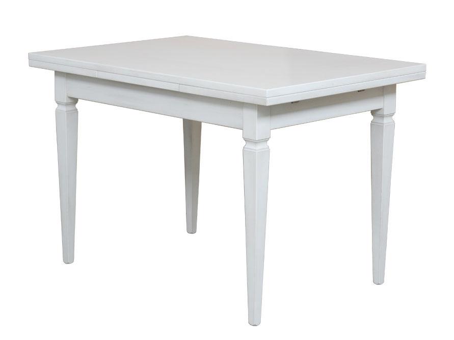 Détails sur Table laquée avec rallonges, table à manger rectangulaire,  salle à manger