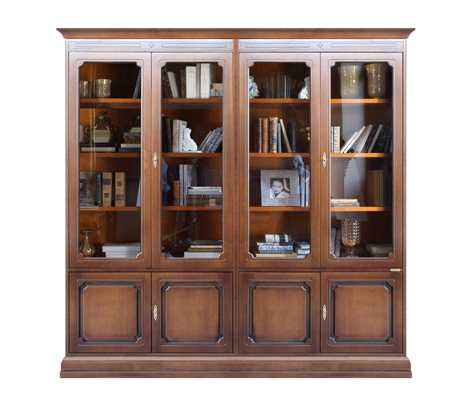 meuble biblioth que modulaire meuble vitrine murale finition laqu e ebay. Black Bedroom Furniture Sets. Home Design Ideas
