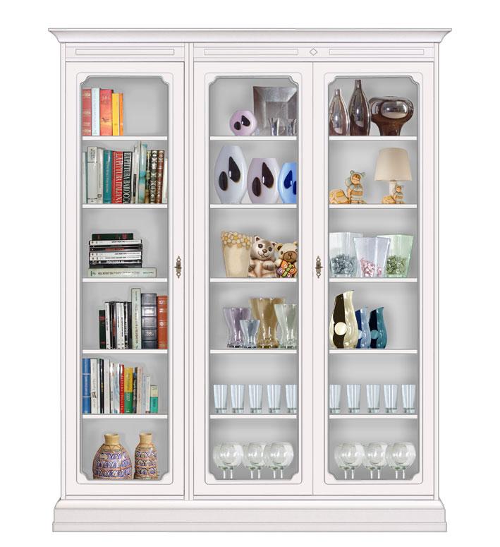 Biblioth que vitrine modulaire de salon meuble argentier for Meuble bibliotheque modulaire