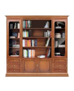 Meuble bibliothèque murale, meuble bibliothèque haut, bibliothèque haute pour salon