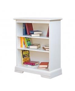 bibliothèque basse avec étagères en bois