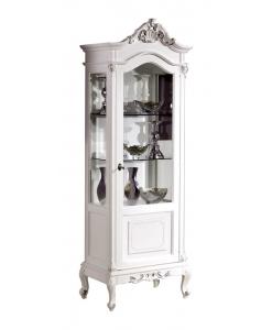 Vitrine sculptée, vitrine de luxe, vitrine pour le salon, ameublement classique, vitrine laquée