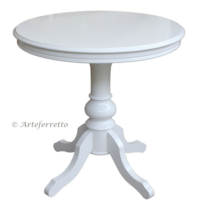 Table ronde 80 cm laqu e lamaisonplus - Table ronde 80 cm ...