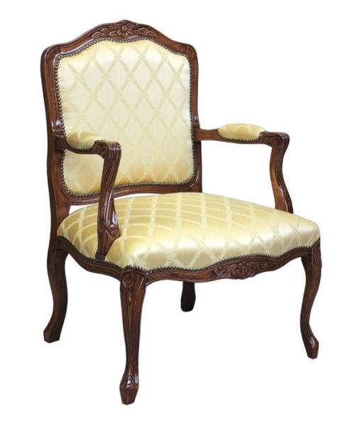 Fauteuil classique, ameublement pour le salon, fauteuil de style, fauteuil pour le sejour, fauteuil en bois massif
