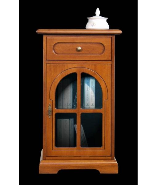 Meuble t l phone porte vitr e style classique lamaisonplus for Meuble porte vitree
