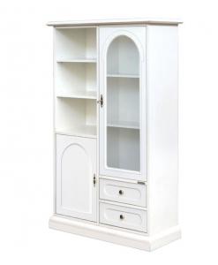 vitrine classique, vitrine blanche, meuble vitrine petite hauteur, vitrine style classique