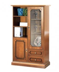 Meuble vitrine de rangement, vitrine en bois, vitrine classique, petite vitrine classique, meuble de style italien, Arteferretto