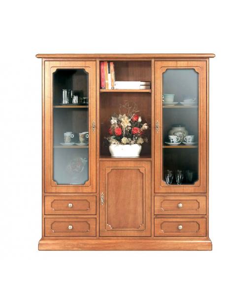 Vitrine 3 portes 4 tiroirs. Réf: 3038-B