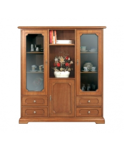 vitrine, vitrine classique, vitrine de style, vitrine 3 portes, vitrine pour le salon