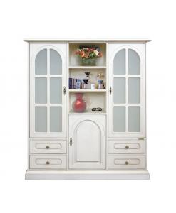 vitrine 3 portes laquée, mobilier living