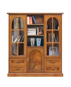 meuble vitrine ronce de noyer, vitrine petite taille, vitrine de salon, vitrine classique en bois