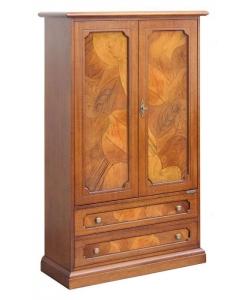 armoire, ronce de noyer, petite armoire 2 portes