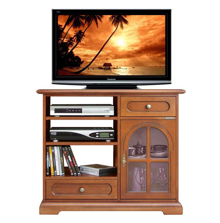 Meuble tv porte vitr e lamaisonplus - Meuble tv avec porte vitree ...