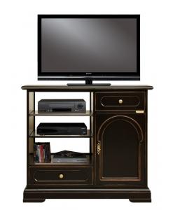 meuble tv classique noir, meuble tv classique, meuble tv, petit meuble tv, meuble noir pour le salon